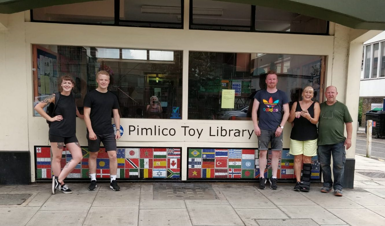 Helping out at Pimlico Toy Library