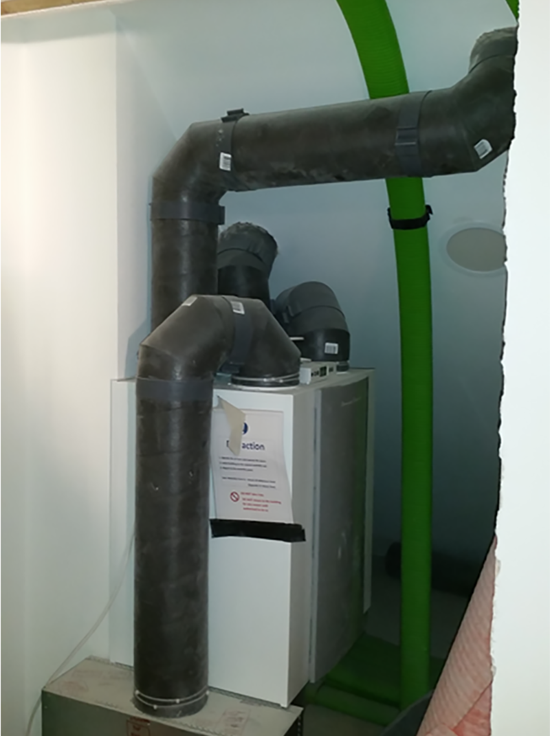 EnerPHit refurbishment - Mechanical Ventilation with Heat Recovery Unit