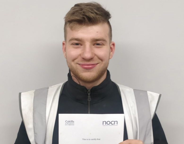 Congratulations to our carpentry apprentice Alfie Edwards