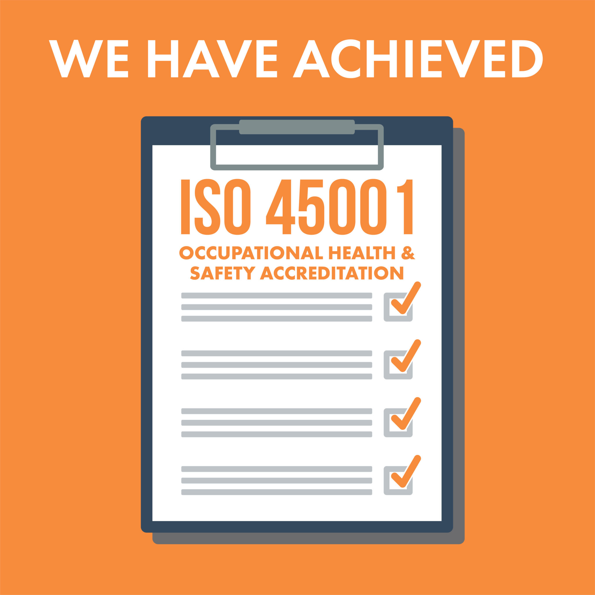 Successful migration to ISO45001 achieved