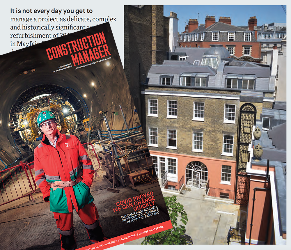 39 Brook Street in Construction Manager Magazine