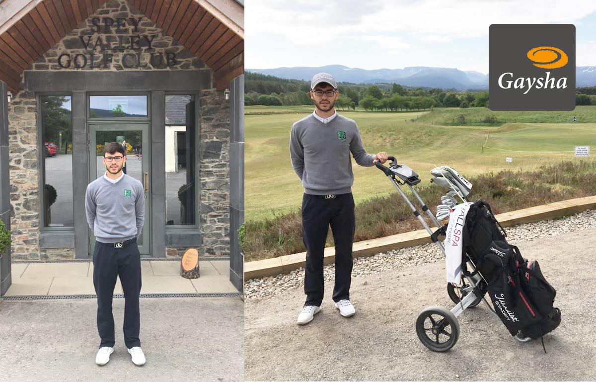 Gaysha sponsors local Golf Pro