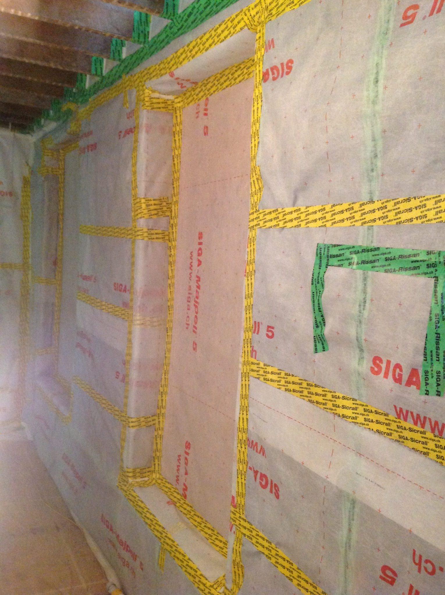 Air-tight membrane adhesive tape