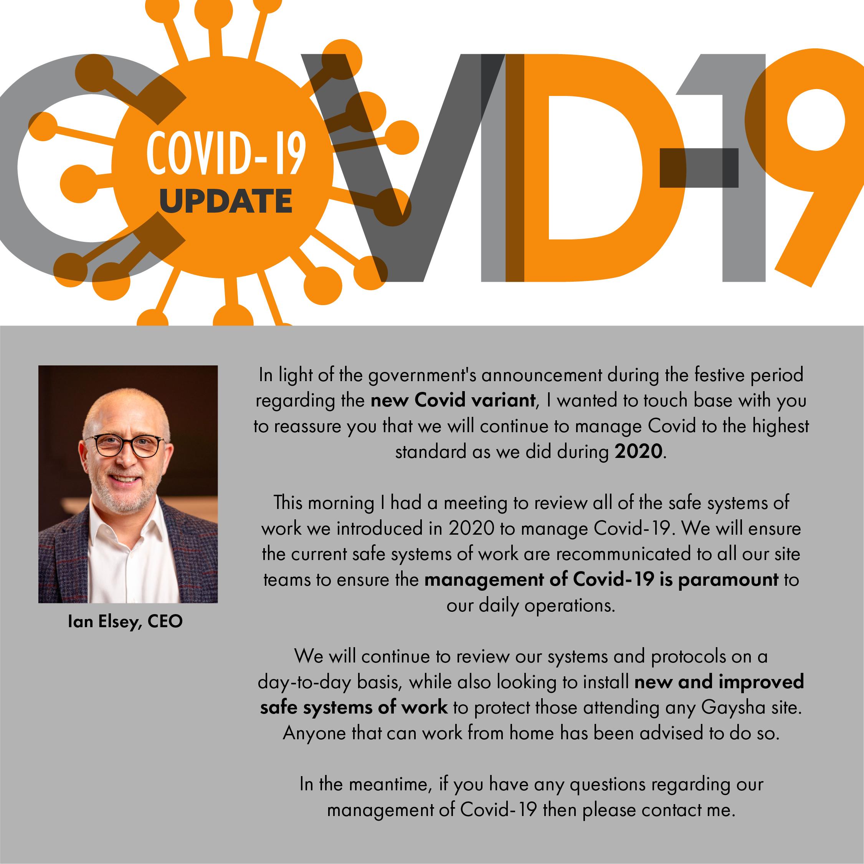 Covid-19 Update January 2021